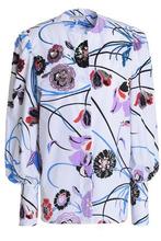 Emilio Pucci | Emilio Pucci Woman Embellished Floral-print Stretch-cotton Poplin Shirt White Size 40 | Clouty