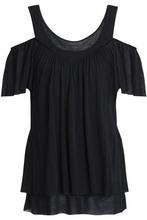Bailey 44   Bailey 44 Woman Cold-shoulder Modal Top Black Size S   Clouty