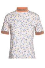 Acne Studios   Acne Studios Woman Printed Cotton Top Blush Size XXS   Clouty
