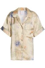 Anna Sui | Anna Sui Woman Floral-print Silk-satin Shirt Ivory Size M | Clouty