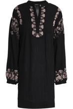 Antik Batik | Antik Batik Woman Embroidered Cotton Mini Dress Black Size 40 | Clouty