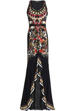 Roberto Cavalli   Roberto Cavalli Woman Ruffled Printed Stretch-jersey Gown Multicolor Size 38   Clouty