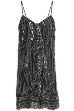 Anna Sui | Anna Sui Woman Embellished Tulle Mini Dress Black Size XS | Clouty