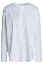 Brunello Cucinelli | Brunello Cucinelli Woman Cotton-blend Poplin Shirt White Size M | Clouty