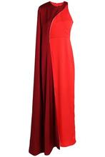 Paper London | Paper London Woman Cape-effect Crepe Gown Claret Size 6 | Clouty