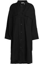 James Perse | James Perse Woman Cotton-blend Twill Shirt Dress Black Size 4 | Clouty