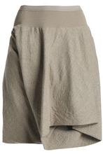 RICK OWENS | Rick Owens Woman Layered Wool Shorts Mushroom Size 38 | Clouty