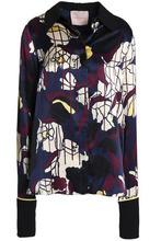 Roksanda | Roksanda Woman Printed Silk-satin Shirt Navy Size 10 | Clouty