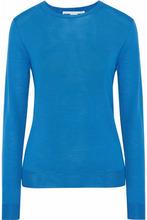 Stella McCartney | Stella Mccartney Woman Ribbed Wool Top Azure Size 36 | Clouty