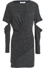 IRO   Iro Woman Cutout Melange Jersey Mini Dress Anthracite Size L   Clouty