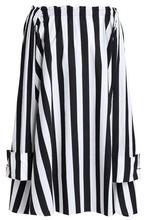 MARQUES'ALMEIDA | Marques' Almeida Woman Off-the-shoulder Striped Cotton-poplin Mini Dress Black Size S | Clouty