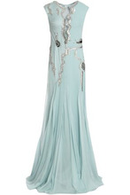 Temperley London   Temperley London Woman Embellished Point D'esprit Gown Sky Blue Size 12   Clouty