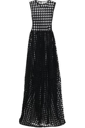 JIL SANDER   Jil Sander Woman Crochet-knit Cotton-blend Gown Black   Clouty