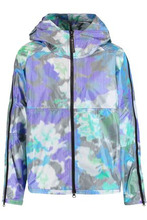 adidas by Stella McCartney | Adidas By Stella Mccartney Woman Hooded Printed Shell Jacket Blue Size M | Clouty