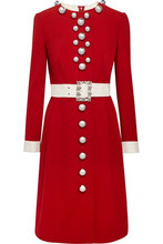 Dolce & Gabbana | Dolce & Gabbana Woman Embellished Wool-blend Dress Red Size 40 | Clouty