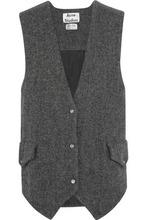 Acne Studios   Acne Studios Woman Oversized Wool-tweed Gilet Gray Size 36   Clouty