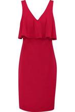 Badgley Mischka | Badgley Mischka Woman Layered Crepe Dress Red Size 12 | Clouty