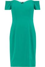 Badgley Mischka   Badgley Mischka Woman Off-the-shoulder Cady Dress Jade Size 12   Clouty