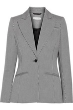 Altuzarra   Altuzarra Woman Acacia Houndstooth Stretch-cotton Blazer Gray Size 42   Clouty