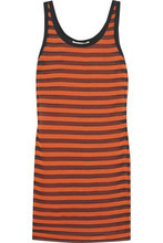 GIVENCHY | Givenchy Woman Striped Stretch-silk Mini Dress Orange Size 42 | Clouty