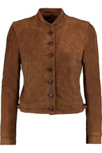 J Brand | J Brand Woman Marquita Cropped Suede Jacket Brown Size XS | Clouty