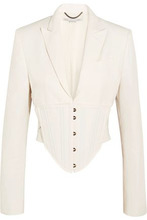 Stella McCartney | Stella Mccartney Woman Abigail Cropped Cutout Cady Jacket White Size 38 | Clouty