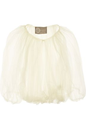 LANVIN | Lanvin Woman Cropped Tulle Shrug Ivory Size 38 | Clouty