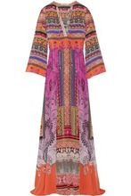 Etro | Etro Woman Printed Silk-crepe Maxi Dress Pink Size 40 | Clouty