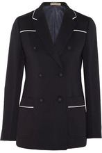 Bottega Veneta | Bottega Veneta Woman Wool-blend Blazer Midnight Blue Size 40 | Clouty