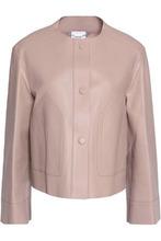 Agnona   Agnona Woman Leather Jacket Blush Size 42   Clouty