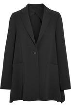 MAX MARA   Max Mara Woman Wool-blend Crepe Blazer Black Size 38   Clouty