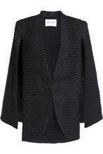 Vionnet | Vionnet Woman Jacqaurd Jacket Black Size 38 | Clouty