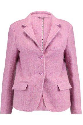 Etro | Etro Woman Melange Wool And Alpaca-blend Blazer Lavender Size 48 | Clouty