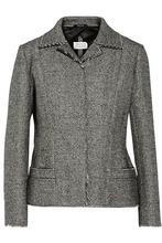 Maison Margiela | Maison Margiela Woman Bonded Tweed Jacket Gray Size 44 | Clouty