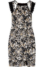 Badgley Mischka   Badgley Mischka Woman Brocade Dress Black Size 2   Clouty