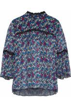 Anna Sui | Anna Sui Woman Printed Silk-georgette Top Multicolor Size M | Clouty
