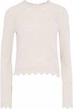 Derek Lam 10 Crosby | Derek Lam 10 Crosby Woman Pointelle-knit Cotton Sweater Beige Size M | Clouty