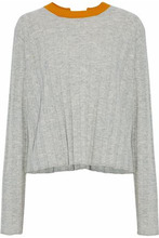 Derek Lam 10 Crosby | Derek Lam 10 Crosby Woman Open-back Ribbed Wool And Cashmere-blend Sweater Gray Size M | Clouty