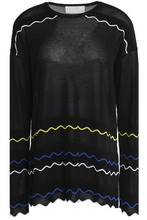 Peter Pilotto | Peter Pilotto Woman Printed Jersey Top Black Size M | Clouty
