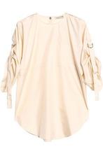 NINA RICCI | Nina Ricci Woman Silk Top Ecru Size 36 | Clouty