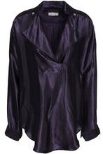 NINA RICCI | Nina Ricci Woman Satin-twill Blouse Dark Purple Size S | Clouty