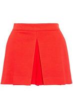 Emilio Pucci | Emilio Pucci Woman Pleated Stretch-ponte Shorts Red Size 44 | Clouty