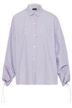 JOSEPH | Joseph Woman Striped Cotton-poplin Shirt Sky Blue Size 38 | Clouty