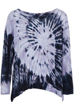 Enza Costa | Enza Costa Woman Draped Tie-dye Jersey Top Lilac Size XS | Clouty
