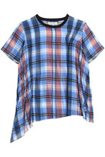 Opening Ceremony | Opening Ceremony Woman Checked Gathered Crepe Top Multicolor Size 8 | Clouty