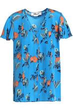 Diane Von Furstenberg | Diane Von Furstenberg Woman Silk Blouse Blue Size 14 | Clouty