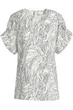 Marni | Marni Woman Printed Cotton-poplin Top White Size 42 | Clouty