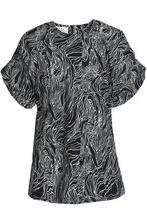 Marni | Marni Woman Printed Cotton-poplin Top Black Size 44 | Clouty
