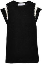 IRO | Iro Woman Embellished Cutout Stretch-jersey Top Black Size S | Clouty