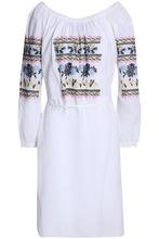 Needle & Thread | Needle & Thread Woman Tasseled Embroidered Cotton-gauze Dress White Size 14 | Clouty